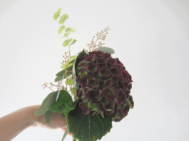 fleuriste mariage lyon hortensia, eucalyptus