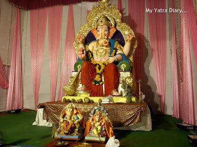 Grand Pandal of Lord Ganesha during Ganesha Chaturthi festival in Mumbai