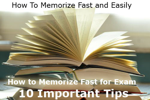 How To Memorize Fast and Easily | How to Memorize Fast for Exam | 10 Important Tips