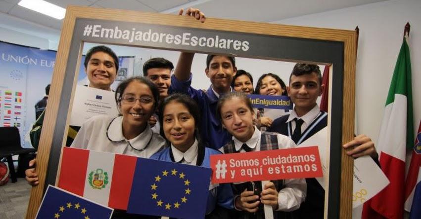 Unión Europea y líderes escolares peruanos dialogan sobre educación en igualdad