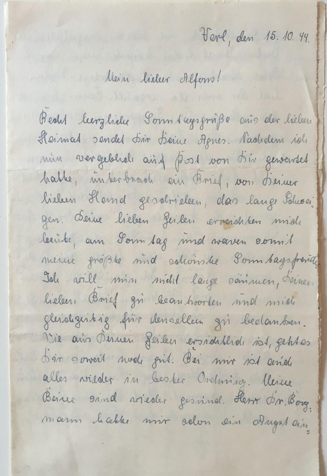 Agnes und Alfons - Liebesbriefe an die Front: Kapitel 2