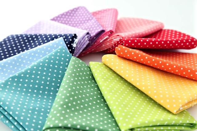 polka dot fabric for diy christmas stocking
