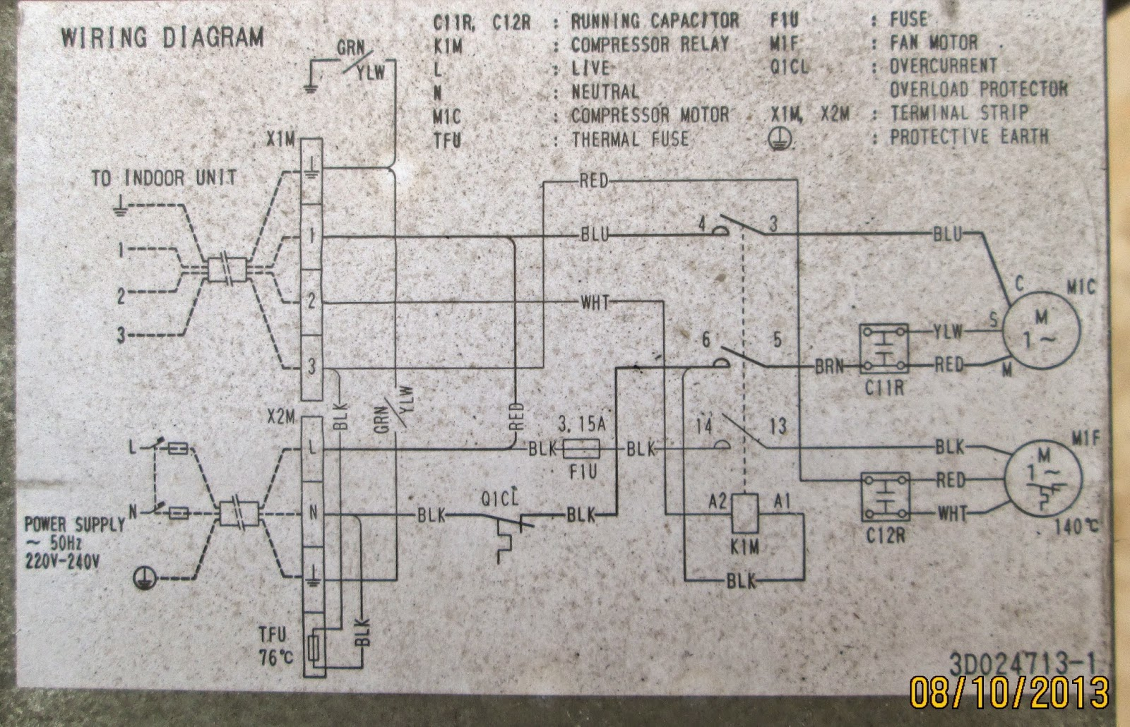 medium resolution of diagram kelistrikan ac split outdoor samsung outdoor daikin