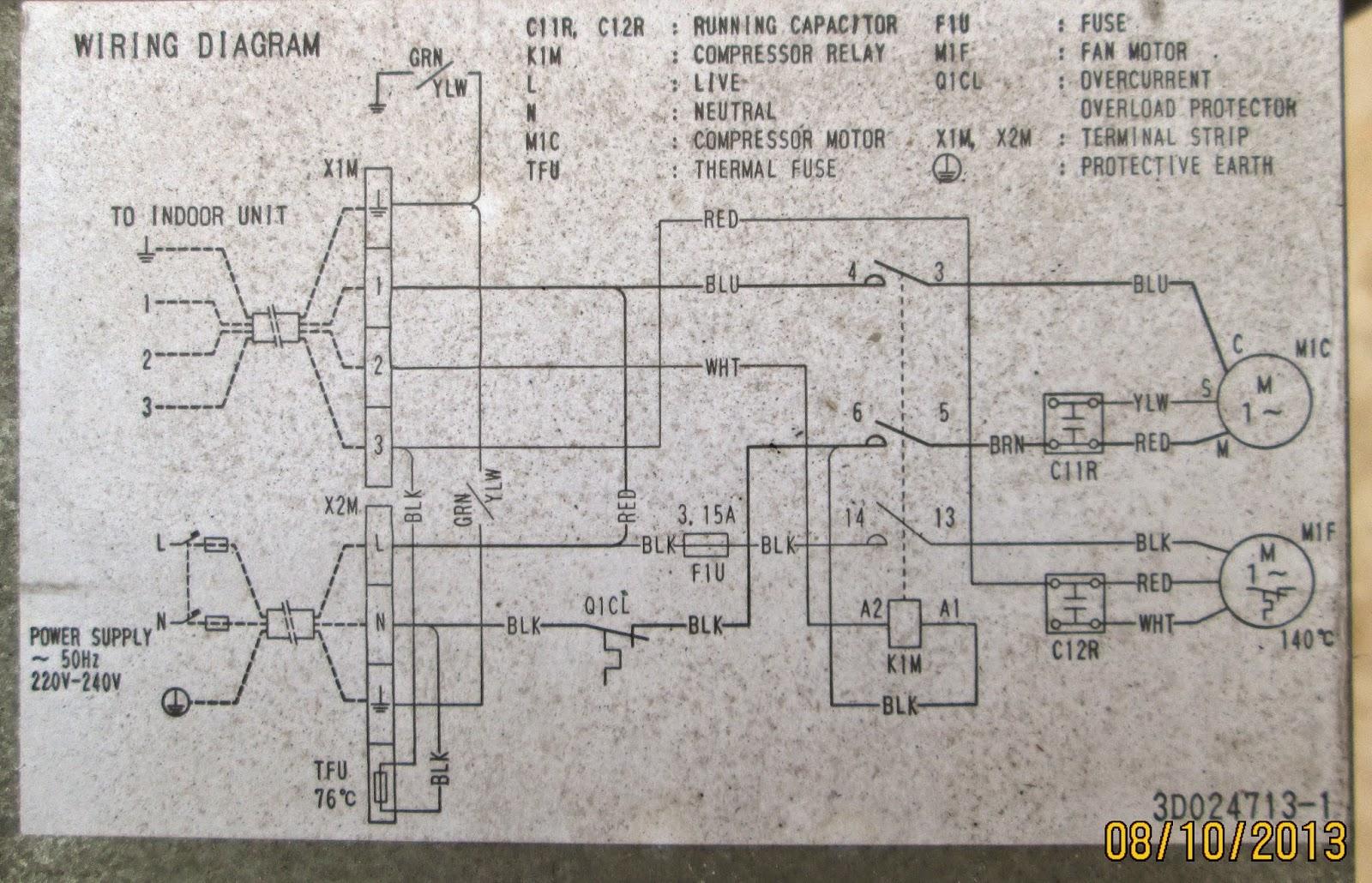 daikin split ac 1 5 ton wiring diagram 80 series landcruiser service kota serang baru kelistrikan