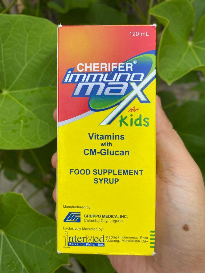 A 120-ml bottle of Cherifer Immunomax for Kids