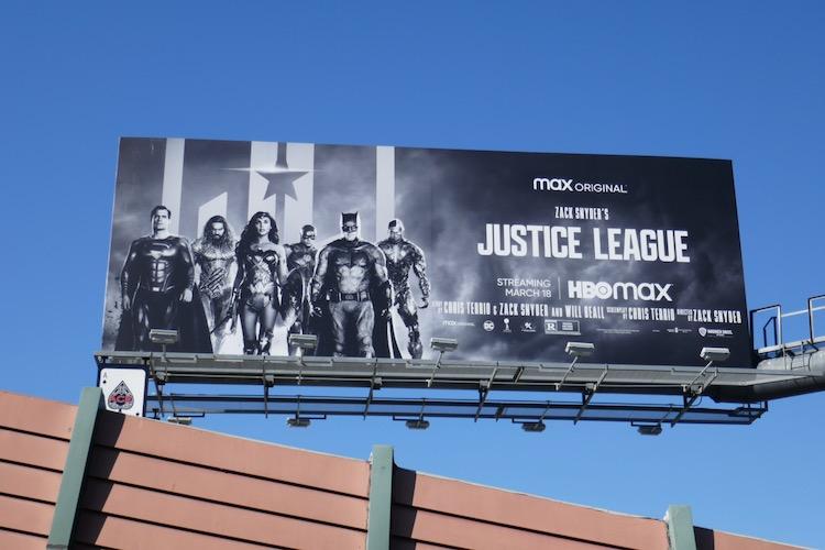 Zack Snyders Justice League HBO billboard