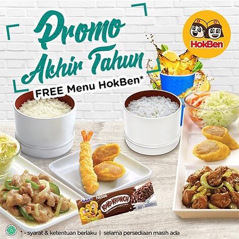 #Hokben - #Promo Free Menu Hokben Spesial Akhir Tahun 2019