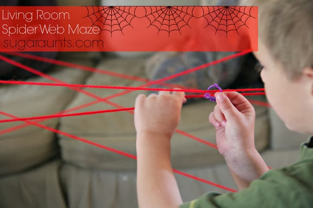 Motor Planning Spider Web Maze with Fine Motor and Eye-hand coordination