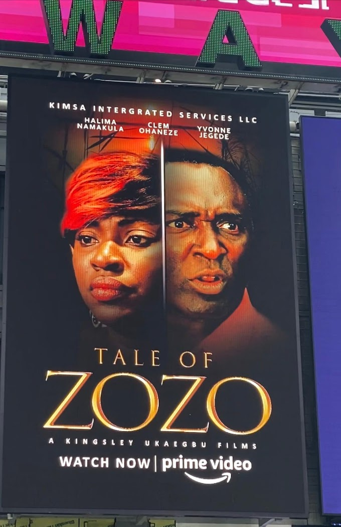 """""""The Tale Of Zozo"""" Nigerian movie featured on popular New York's Times Square Bilboard"""
