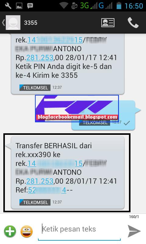 cara transfer SMS banking mandiri terbaru