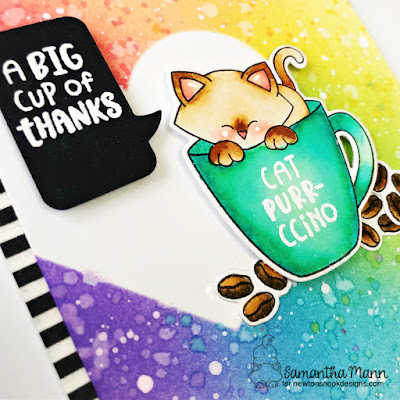 A Big Cup of Thanks Card by Samantha Mann for Newton's Nook Designs, Distress Inks, Ink Blending, Die Cut, Stencil, Cards, Cardmaking #newtonsnook #newtonsnookdesigns #distressinks #inkblending