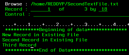 Write data into IFS file from SQL - IBM i