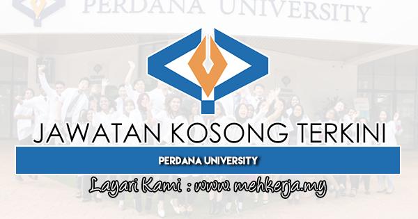 Jawatan Kosong Terkini 2019 di Perdana University