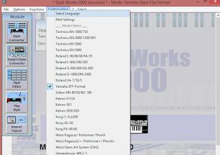 Cara Convert Style Keyboard Korg - Yamaha