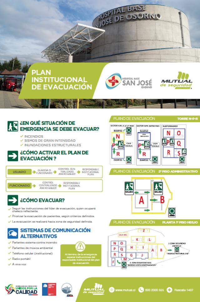 plan de evacuación del hospital de osorno