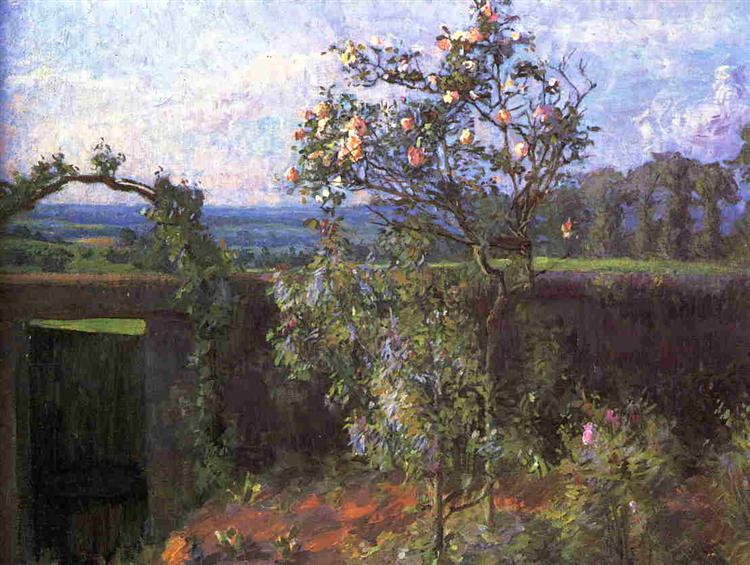 Gustave Caillebotte, Garten, Frieden, Ruhe, Natur, Entspannung, seeligkeit, das denken abschalten, hektik der stadt, erholung, relaxen auf dem land, angst loslassen, painting, bild, poetische Art