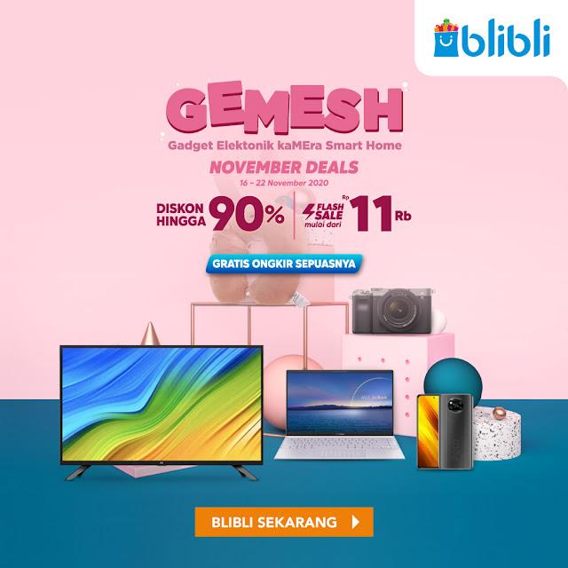 #BliBli - #Promo Kode Voucher Barang Elektronik Dapat Diskon 90% & Ongkir Sepuasnya (s.d 22 Nov 2020)