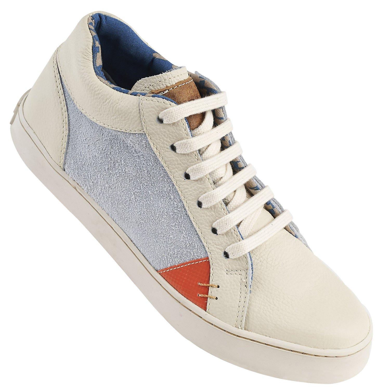 Modelo Pipa blanco con naranjo y gris de Kruza zapatillas sustentables chilenas