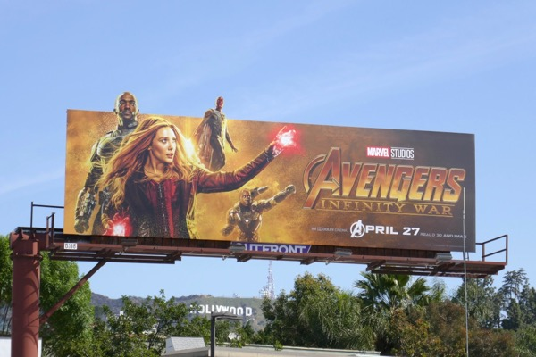 Avengers Infinity War Scarlet Witch Falcon Vision billboard