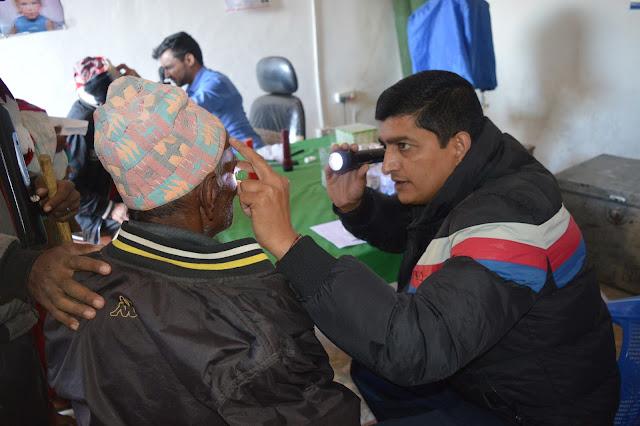 patient examination in Eye camp rukum
