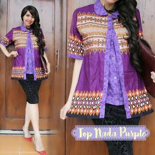 desain baju batik dres modern
