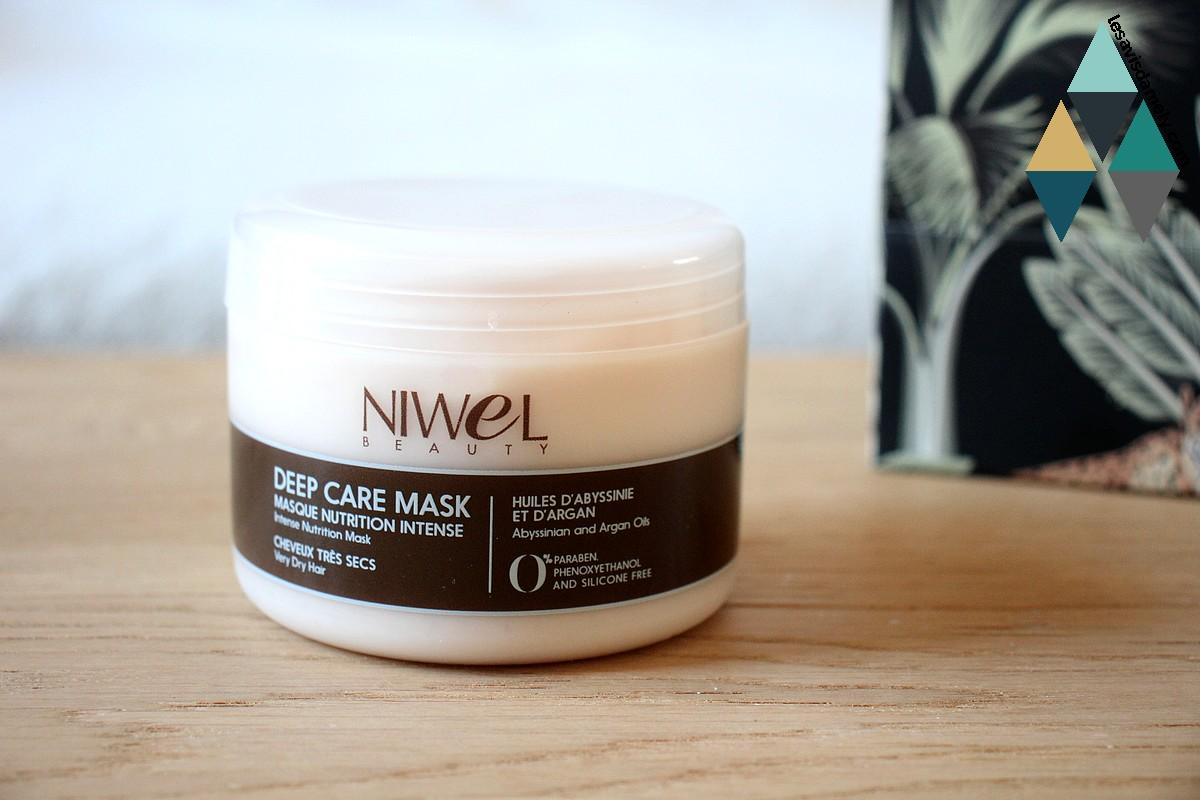 avis et test masque huile nutrition intense cheveux bouclés et secs niwel