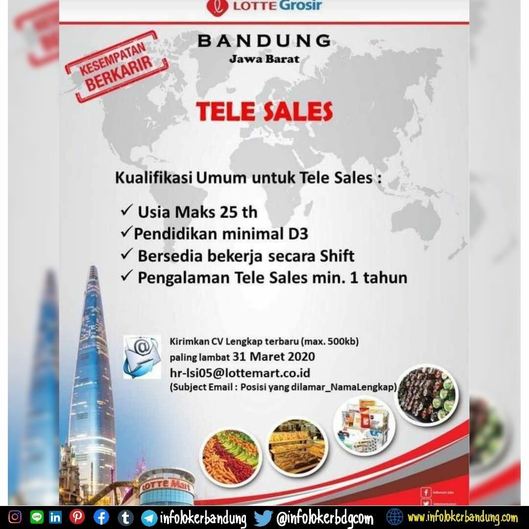 Lowongan Kerja Tele Sales Lotte Grosir Bandung Maret 2020