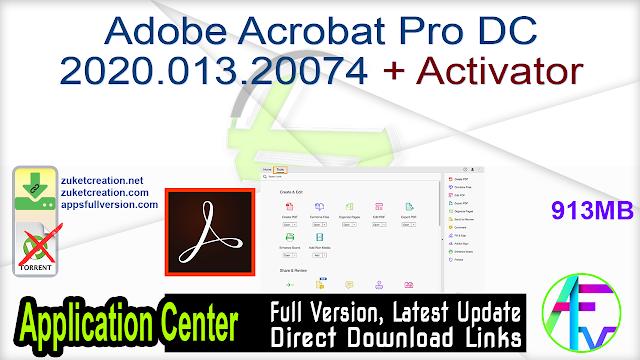 Adobe Acrobat Pro DC 2020.013.20074 + Activator