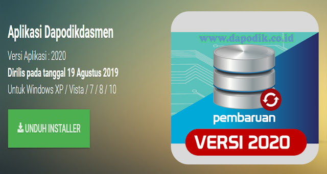 Download Aplikasi Dapodikdasmen Versi 2020 (Rilis Aplikasi Dapodikdasmen Versi 2020)
