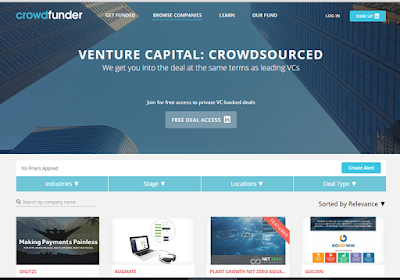 Crowdfunder offers access to private early-stage VC-backed startups