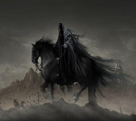 Hình Nền Điện Thoại Đen Thần Chết Trên Lưng Ngựa