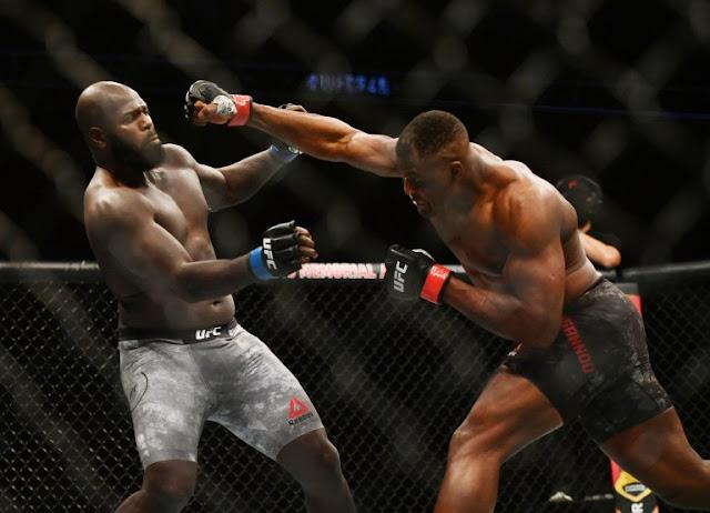 Francis Ngannou drops Jairzinho Rozenstruik UFC 249