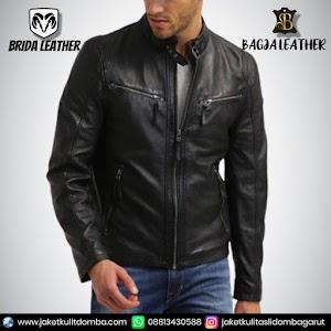 Jual Jaket Kulit Asli Garut Pria Domba Original Brida Leather B98 | WA 08813430588
