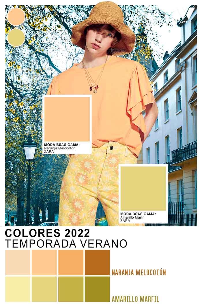 naranja y amarillo colores de moda verano 2022