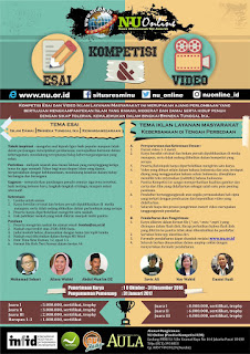 Kompetisi Esai dan Video Islam Damai NU Online 2016