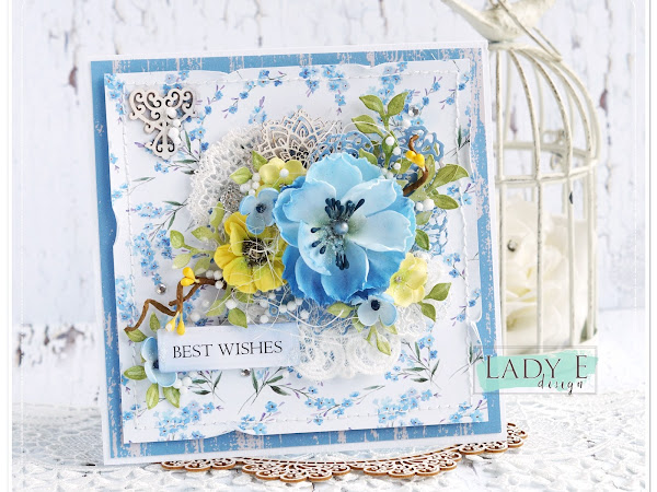 Card with Blue Flower