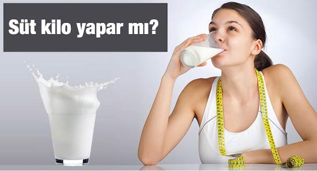 süt içmek zayıflatırmı