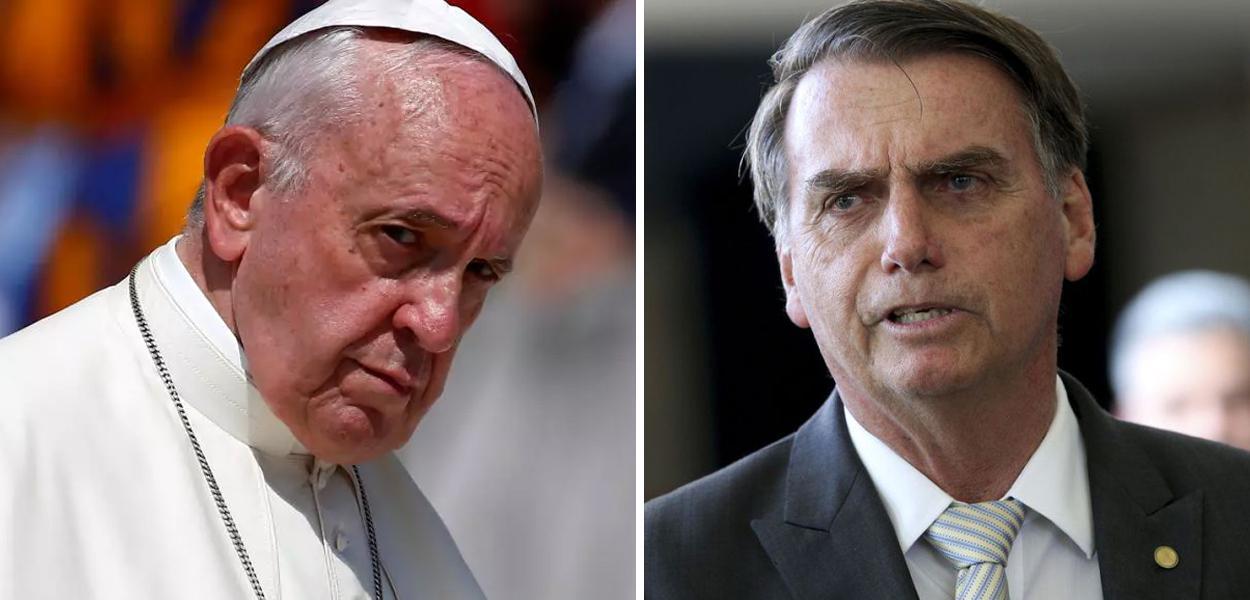Resultado de imagem para Bolsonaro diz que Amazônia é 'nossa' e não 'como o Papa tuitou ontem, não, tá?'