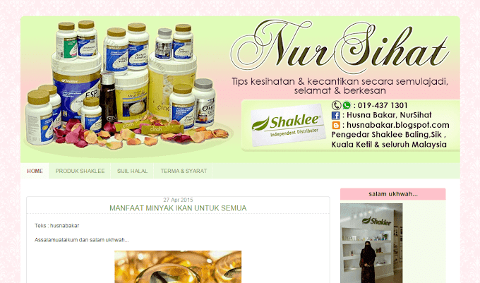 Tempahan Design Blog Nur Sihat