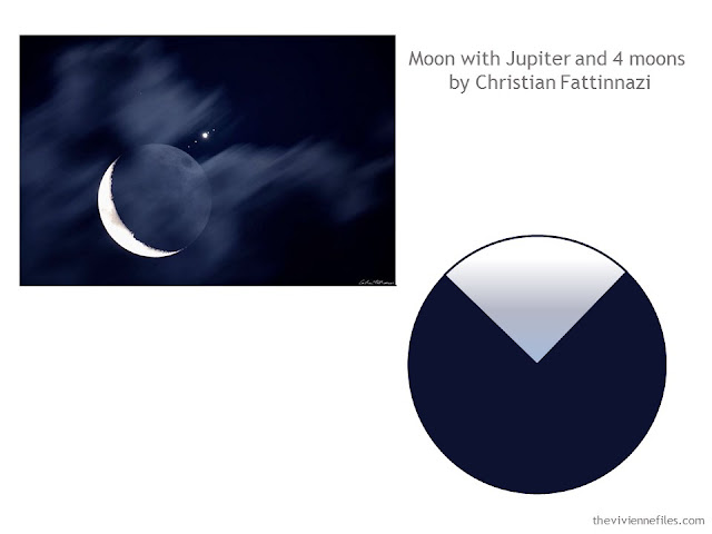 Moon with Jupiter and 4 Moons by Christian Fattinnazi