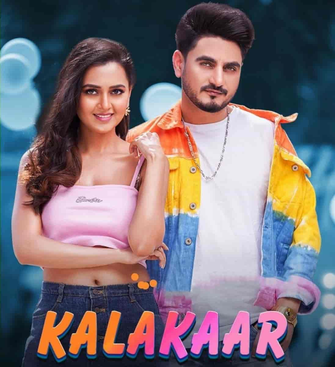Kalakaar Punjabi Song Image Features Kulwinder Billa and Tejasswi Prakash