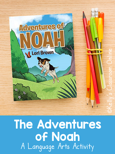 Adjectives and characterization with The Adventures of Noah by Lori Brown. Noah is a rescue dog who found his forever home. Based on a true story.