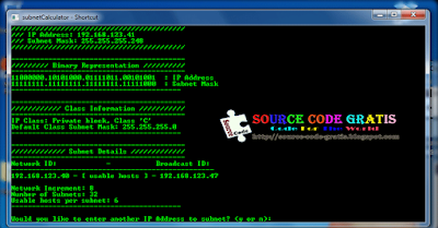 Download Gratis Source Code C++ Aplikasi Subnet Calculator