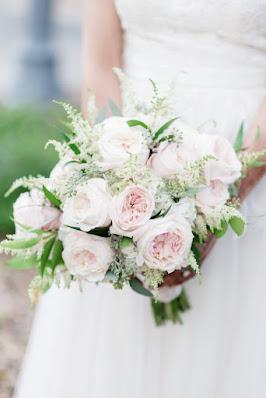 pink feminine bridal bouquet