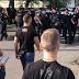 На вулиці Матеюка, 4, між студентами Олімпійського коледжу та поліцією сталася масова бійка