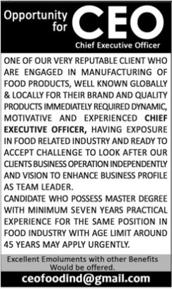 JOBS | Chief Executive Officer