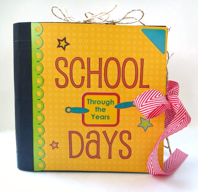 Moxxie School Days Handmade Preschool Through Grade 12 Mini Album Tutorial by Dana Tatar