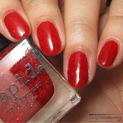 nail polish swatch of Festive by Vapid Lacquer