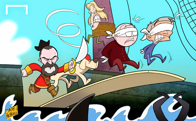 Pirate Roy Keane cartoon
