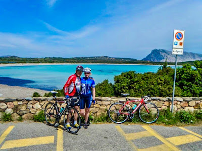 cycling Costa Smeralda in Sardinia Italy carbon road bike mtb ebike rental emerald coast